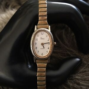 Vintage 60s Ladies Timex Speidel band watch